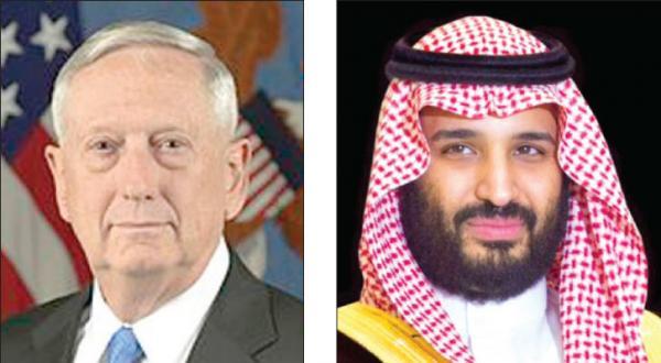 گفت و گوی تلفنی ولیعهد عربستان سعودی و وزیر دفاع آمریکا