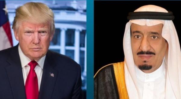 گفت و گوی ملک سلمان و ترامپ درباره تلاش های مربوط به مبارزه با تروریسم و حمایت مالی آن