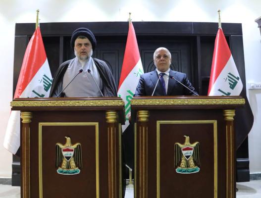 دیدار مقتدی صدر با حیدر العبادی؛ دولت آینده دولت فراگیر خواهد بود