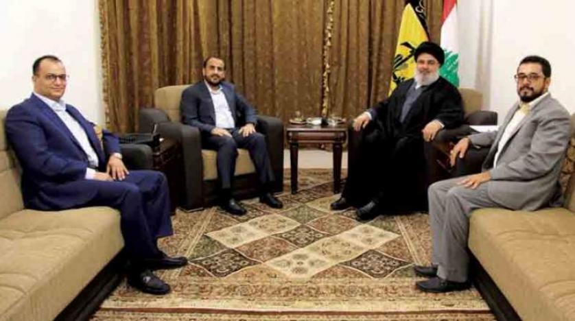 واکنش های انتقادی به دیدار سخنگوی حوثی ها و نصرالله در لبنان