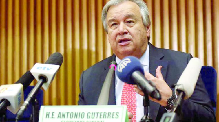 گوترش ۴ پیشنهاد را برای حمایت از فلسطینیان ارائه کرد
