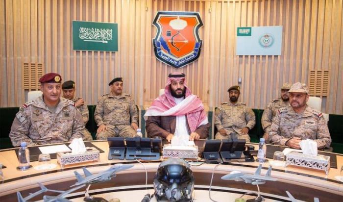 ولیعهد سعودی روند عملیات نظامی نیروهای ائتلاف را بررسی کرد