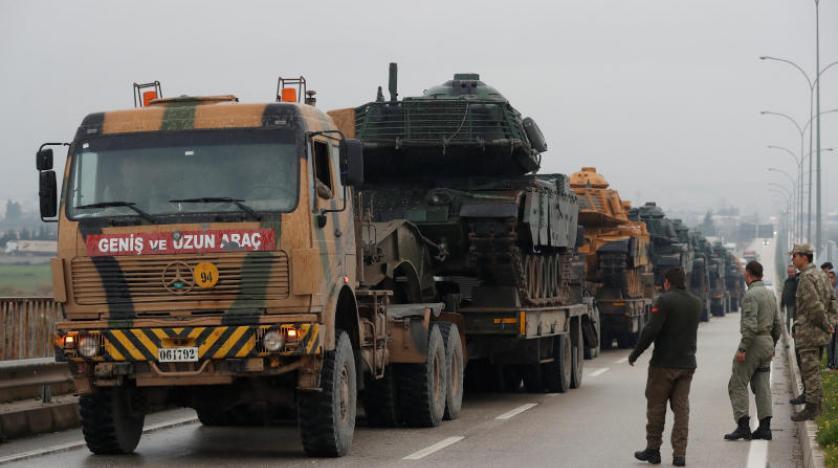 ترکیه نیروهای بیشتری به مرزهاى خود با سوریه میفرستد