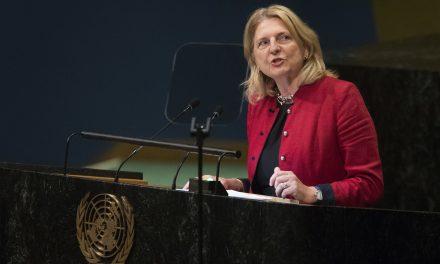 سخنرانی غافلگیر کننده وزیر امور خارجه اتریش به زبان عربی در سازمان ملل