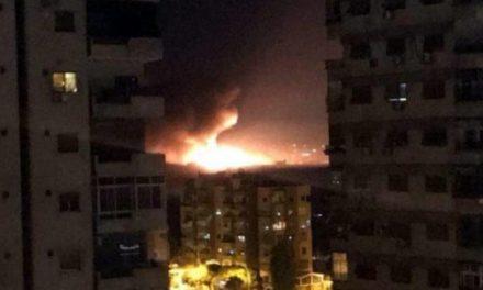 انفجار مهیب در فرودگاه مزه سوریه