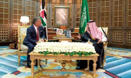 خادم حرمین شریفین پادشاه اردن و نائب رئیس امارات را به حضور پذیرفت