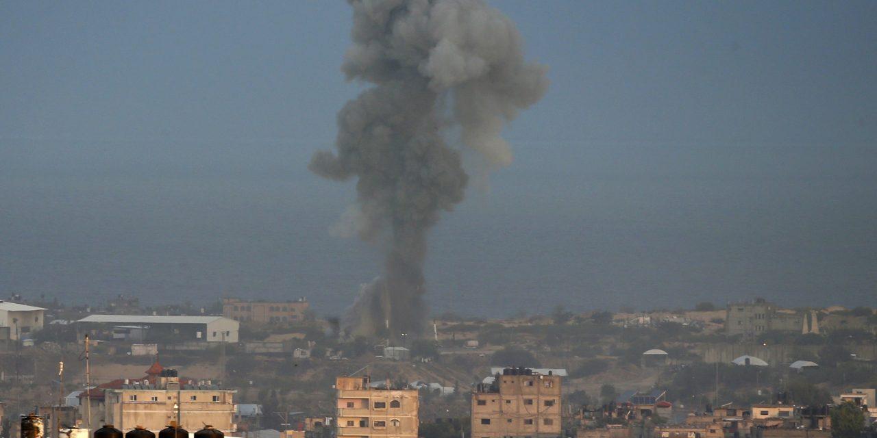 حمله هوایی اسرائیل به غزه در پاسخ به حمله راکتی