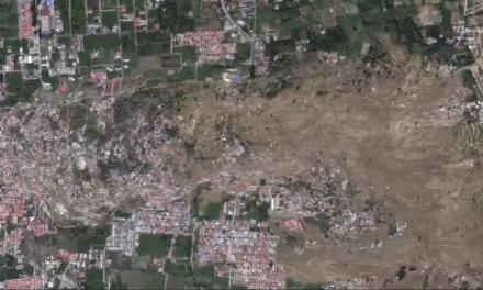 تصاویر ماهوارهای؛ زمین در حین زلزله اندونزی ذوب شد