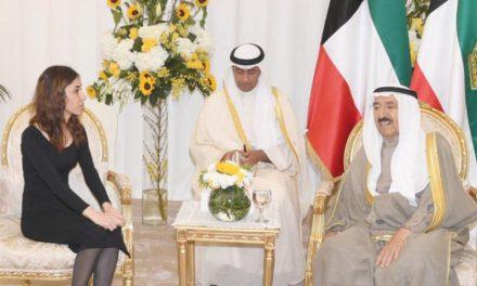 میزبانی امیر کویت از نادیا مراد برنده عراقی جایزه صلح نوبل