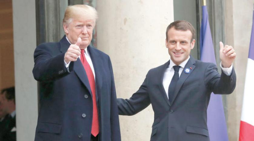 ماکرون و ترامپ بر ثبات وضعیت خاورمیانه تأکید کردند