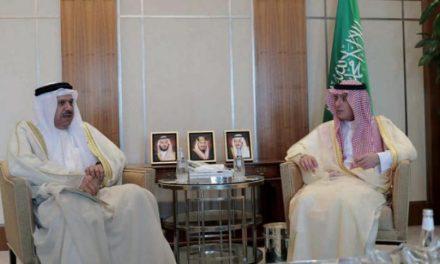 وزیر خارجه سعودی با دبیرکل شورای همکاری خلیج و نماینده بریتانیا دیدار کرد