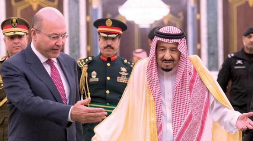 خادم حرمین شریفین از رئیسجمهور عراق استقبال کرد