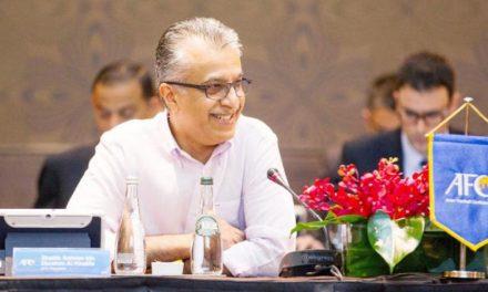 فلسطین از ادامه ریاست سلمان بن ابراهیم بر «کنفدراسیون آسیا» حمایت میکند