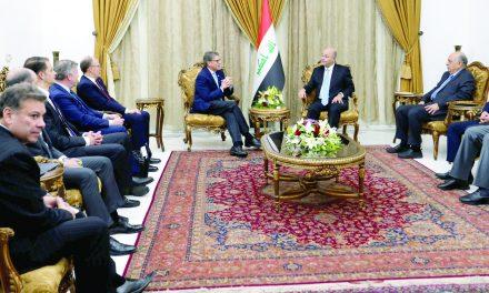 تمجید صالح از نقش واشینگتن؛ تأکید عبدالمهدی و الحلبوسی بر اهمیت روابط اقتصادی