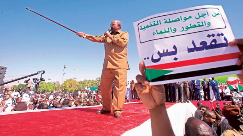 بزرگ ترین تظاهرات ضد حکومتی در ام درمان در واکنش به تهدید البشیر خطاب به خرابکاران