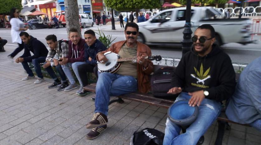 خلق نشاط و شادی در پایتخت تونس با موسیقی خیابانی