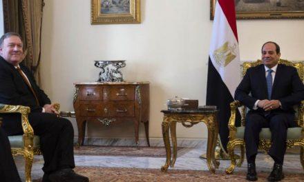 پمپئو در قاهره: مصمم به تقویت همکاری با منطقه برای ریشه کن کردن تروریسم هستیم