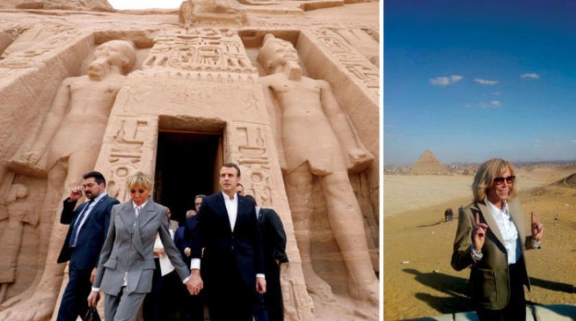 مکرون از معبد ابوسمبل و همسرش از اهرام بازدید کردند